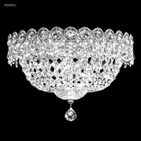 James R. Moder 40633S11 Imperial 3 Light 12 inch Silver Flush Mount Ceiling Light Impact