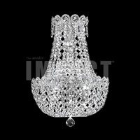 James R. Moder 40634S11 Imperial Collection 3 Light Silver Wall Sconce Wall Light Impact