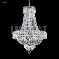 James R. Moder 40635S11 Imperial 12 Light 20 inch Silver Crystal Chandelier Ceiling Light Impact