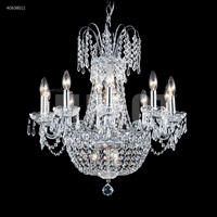 James R. Moder 40638S11 Imperial 16 Light 24 inch Silver Chandelier Ceiling Light Impact