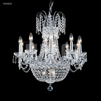 James R. Moder 40638S22 Imperial 16 Light 24 inch Silver Chandelier Ceiling Light Impact