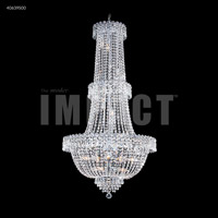 James R. Moder 40639S00 Imperial 20 Light 28 inch Silver Entry Chandelier Ceiling Light, Large