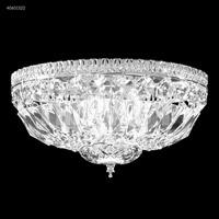 James R. Moder 40651S22 Gallery 3 Light 9 inch Silver Flush Mount Ceiling Light