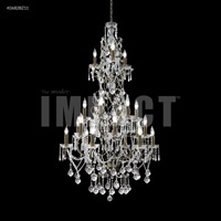 James R. Moder 40682BZ11 Charleston 21 Light 33 inch Bronze Entry Chandelier Ceiling Light