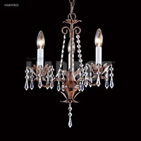 Vintage Bronze Crystal Mini Chandeliers