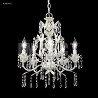 Signature 5 Light 17 inch White Mini Chandelier Ceiling Light