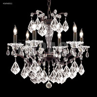 James R. Moder 40696BS11 Cosenza Collection 6 Light 23 inch Burnt Sienna Chandelier Ceiling Light