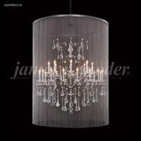 James R. Moder 40699BS22-45 Cosenza 25 Light 48 inch Burnt Sienna Chandelier Ceiling Light with Veil