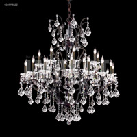 Cosenza 25 Light 48 inch Burnt Sienna Chandelier Ceiling Light, without Veil