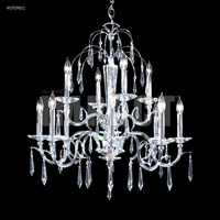 James R. Moder 40709S11 Contemporary Collection 12 Light 29 inch Silver Chandelier Ceiling Light