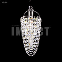 James R. Moder 40711S00 Contemporary 1 Light 5 inch Silver Crystal Chandelier Ceiling Light