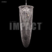 James R. Moder 40718S0JA Contemporary 8 Light 21 inch Silver Entry Chandelier Ceiling Light