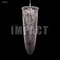 James R. Moder 40718S2JA Contemporary 8 Light 21 inch Silver Entry Chandelier Ceiling Light Large
