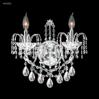 James R. Moder 40722S11 Regalia 2 Light Silver Wall Sconce Wall Light