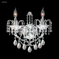 James R. Moder 40722S22 Regalia Collection 2 Light Silver Wall Sconce Wall Light