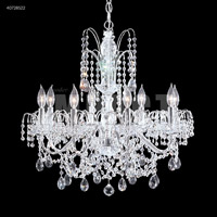 James R. Moder 40728S22 Regalia 8 Light 28 inch Silver Chandelier Ceiling Light