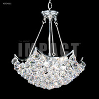 James R. Moder 40734S11 Cascade 6 Light 19 inch Silver Mini Chandelier Ceiling Light