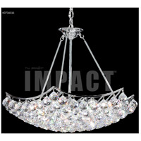 James R. Moder 40736S11 Cascade 9 Light 26 inch Silver Chandelier Ceiling Light
