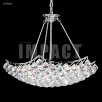 James R. Moder 40736S22 Cascade Collection 9 Light 26 inch Silver Chandelier Ceiling Light
