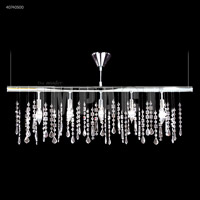 James R. Moder 40740S00 Contemporary 5 Light Silver Linear Chandelier Ceiling Light