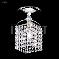 James R. Moder 40741S00 Contemporary Collection 1 Light 6 inch Silver Flush Mount Ceiling Light