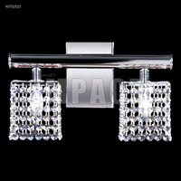 Contemporary Collection 2 Light 14 inch Silver Vanity Wall Light