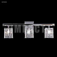 James R. Moder 40753S00 Contemporary Collection 3 Light 27 inch Silver Vanity Wall Light