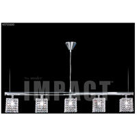 James R. Moder 40755S00 Contemporary 5 Light Silver Linear Chandelier Ceiling Light
