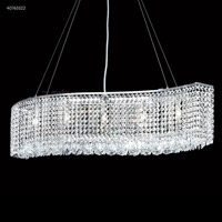 James R. Moder 40765S22 Contemporary 5 Light 7 inch Silver Mini Chandelier Ceiling Light