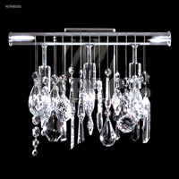 James R. Moder 40768S00 Contemporary Collection 3 Light Silver Wall Sconce Wall Light