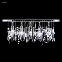 James R. Moder 40769S11 Contemporary Collection 5 Light 27 inch Silver Vanity Wall Light