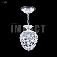 James R. Moder 40791S22 Palace Ice 1 Light 6 inch Silver Pendant Ceiling Light