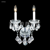 James R. Moder 40792S11 Palace Ice 2 Light Silver Wall Sconce Wall Light