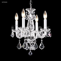 Palace Ice 4 Light 14 inch Silver Mini Chandelier Ceiling Light