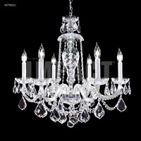 James R. Moder 40796S11 Palace Ice 6 Light 25 inch Silver Chandelier Ceiling Light