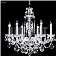 James R. Moder 40796S22 Palace Ice 6 Light 25 inch Silver Chandelier Ceiling Light
