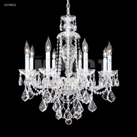James R. Moder 40798S22 Palace Ice 8 Light 25 inch Silver Chandelier Ceiling Light