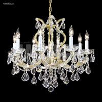 James R. Moder 40808GL2GT Maria Theresa 9 Light 25 inch Gold Lustre Chandelier Ceiling Light