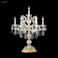 Gold Crystal Maria Theresa Table Lamps