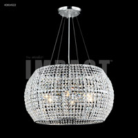 Contemporary 6 Light 20 inch Silver Mini Chandelier Ceiling Light