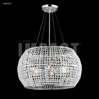 James R. Moder 40814S22 Contemporary 6 Light 20 inch Silver Mini Chandelier Ceiling Light