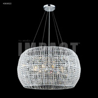 James R. Moder 40818S22 Contemporary 9 Light 27 inch Silver Crystal Chandelier Ceiling Light