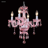 James R. Moder 40824S2R Mini Crystal Chandelier Collection 4 Light 14 inch Silver Chandelier Ceiling Light