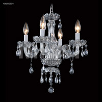 James R. Moder 40824S2SM Signature 4 Light 14 inch Silver Mini Chandelier Ceiling Light