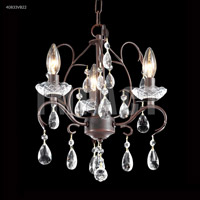 James R. Moder 40833VB22 Signature 3 Light 13 inch Vintage Bronze Mini Chandelier Ceiling Light