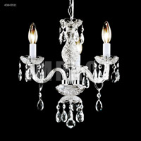 James R. Moder 40843S11 Signature 3 Light 14 inch Silver Mini Chandelier Ceiling Light
