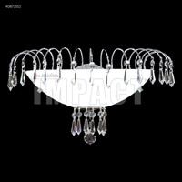 James R. Moder 40873S11 Spring Rain 1 Light Silver Wall Sconce Wall Light