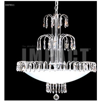 Contemporary 8 Light 22 inch Silver Chandelier Ceiling Light
