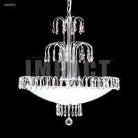 James R. Moder 40878S11 Contemporary 8 Light 22 inch Silver Chandelier Ceiling Light