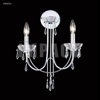 James R. Moder 40882S11 Spring Rain 2 Light Silver Wall Sconce Wall Light